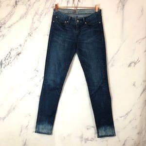 LEVI's skinny demi curve bleach hem jeans 27